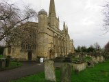 "St. John the Baptist in Burford, a so-called ""wool church"" as it was built by wealthy wool merchants."